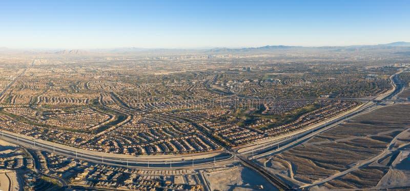 Aerial View of Housing Developments Near Las Vegas, NV stock image