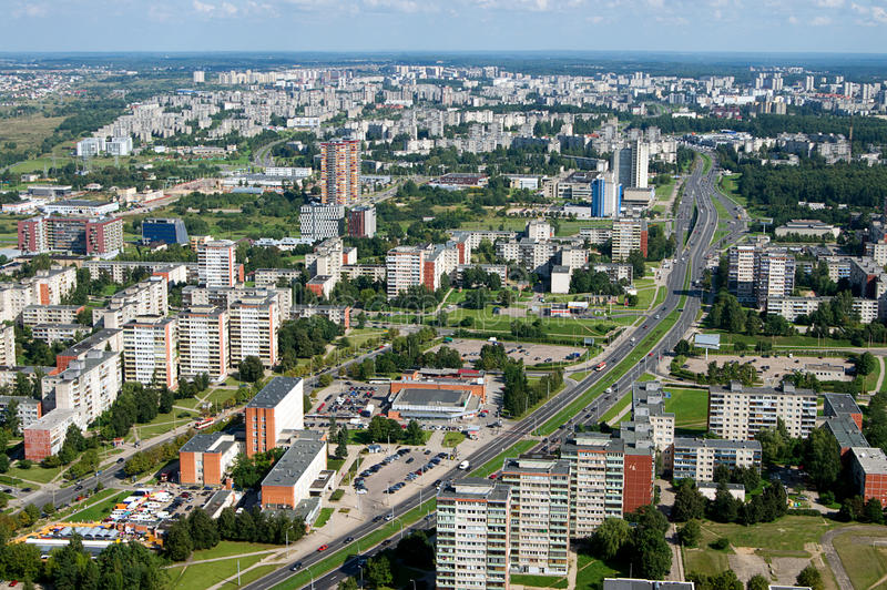 Aerial View On Housing Estate Blocks Of Flats Stock Photo