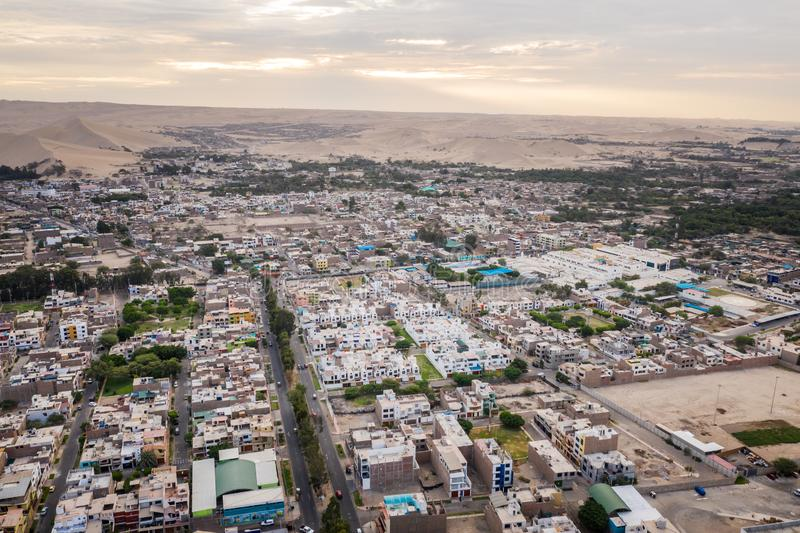 Aerial view of Ica city in Peru stock image