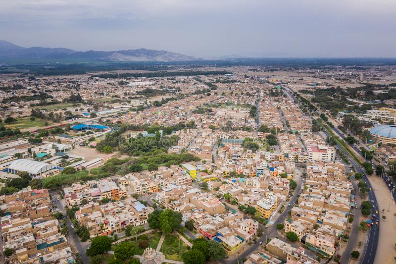 Aerial view of Ica city in Peru stock images