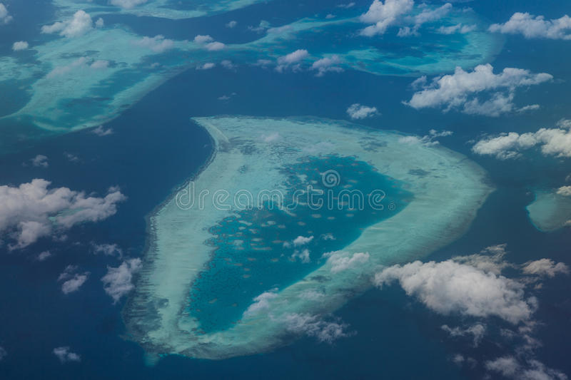 Aerial View of Indonesian Reef stock images