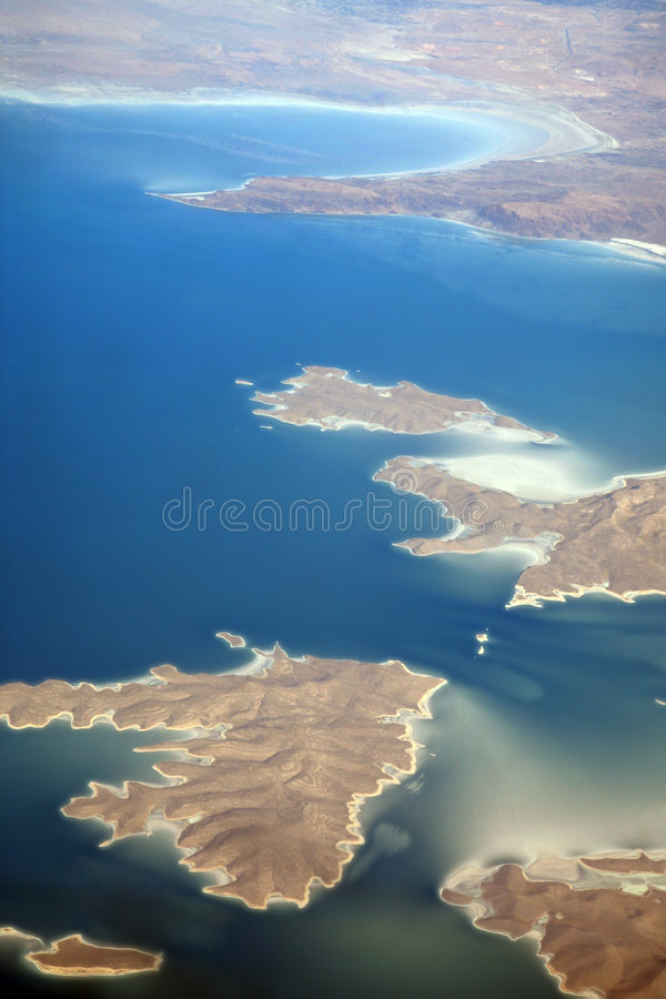 Aerial view of Iran royalty free stock images