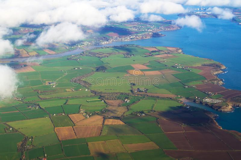 Aerial view of Ireland royalty free stock images