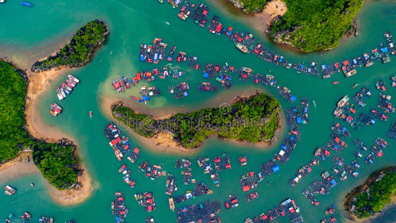 Aerial View of Island royalty free stock photos