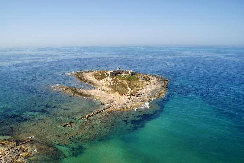 Aerial view of Island in sicily royalty free stock image
