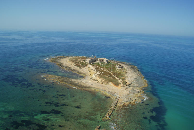 Aerial view of Island in sicily royalty free stock images