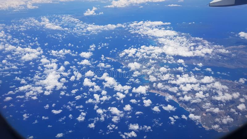 Aerial view of the islands of Greece, Kefalonia Island. Greece royalty free stock photos
