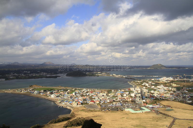 Aerial View Of Jeju City Royalty Free Stock Image