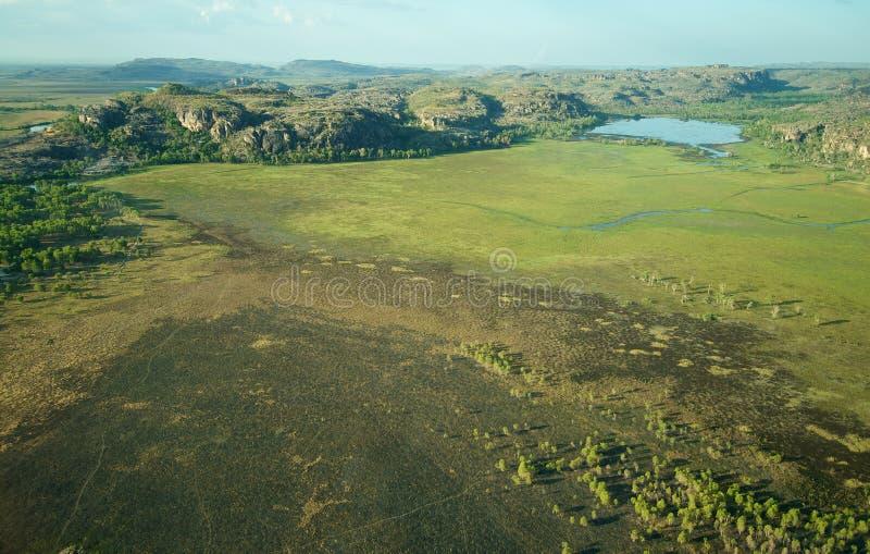 Aerial view of Kakadu National Park. Aerial view of Kakadu NP in Northern Territory, Australia stock photography