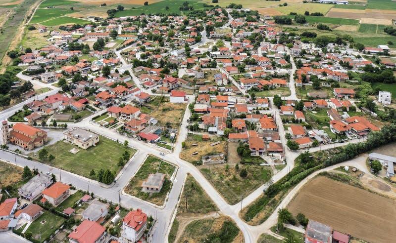 Aerial view of Kavallari village, Greece royalty free stock image