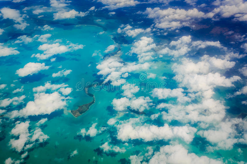 Aerial view of Key West and florida Keys stock photography