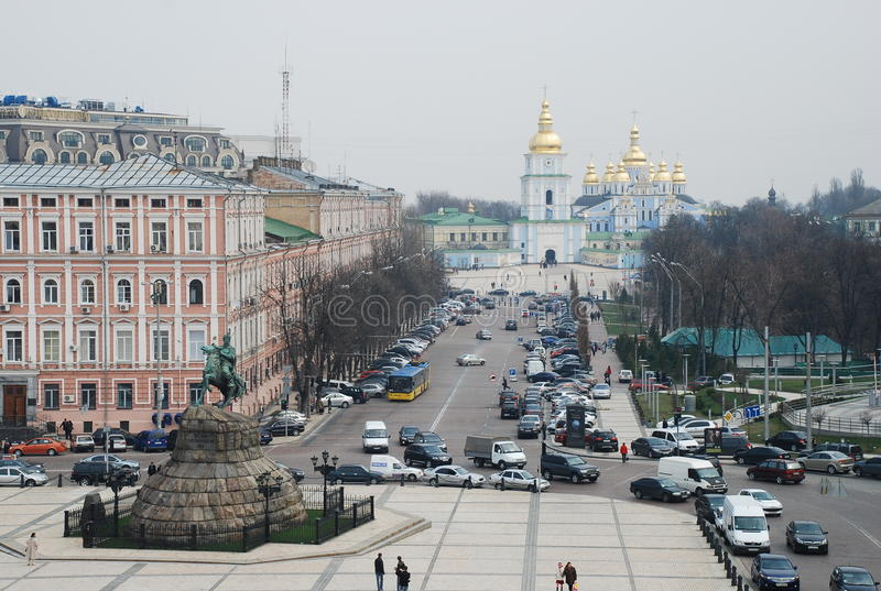 Download Aerial View Of Kiev The Central Part City Ukraine Editorial Stock Photo - Image: 83707543