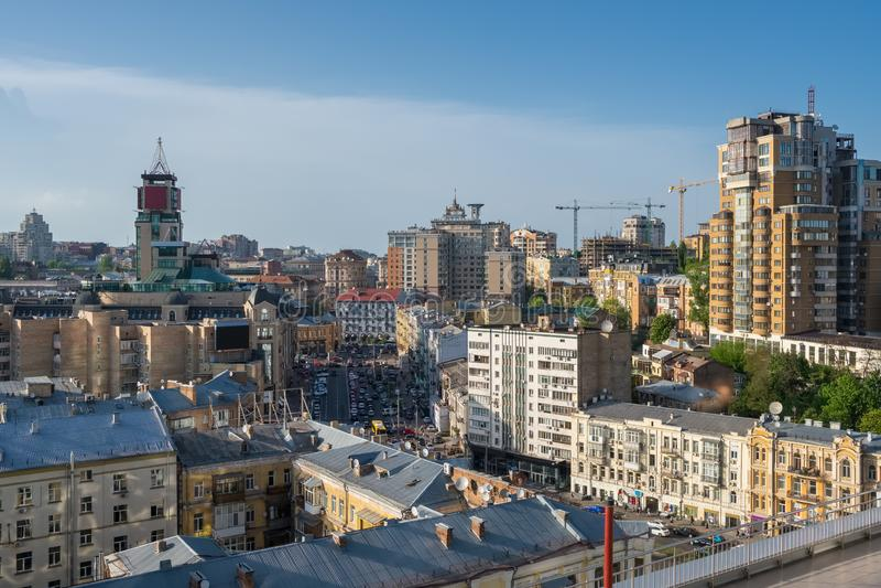 Aerial view of Kiev at summer, Ukraine stock photos