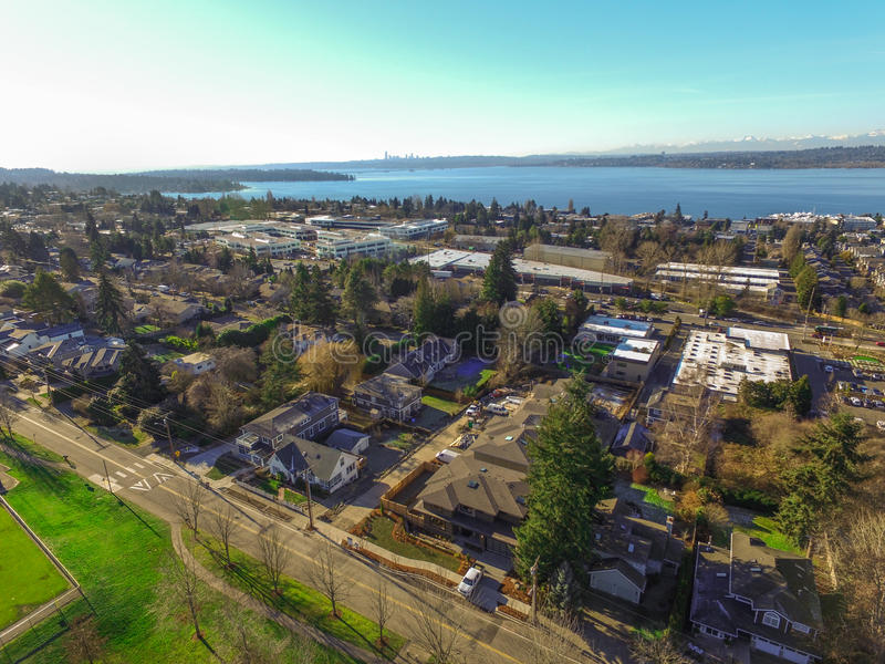 Aerial view of Kirkland Residential area. stock images