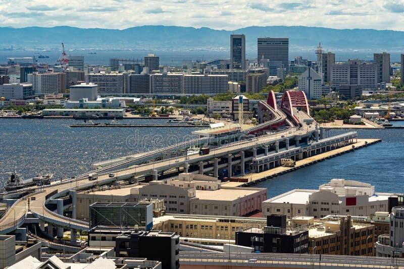 Aerial view Kobe Japan royalty free stock images