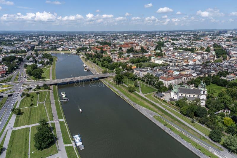 Aerial view of Krakow stock photos