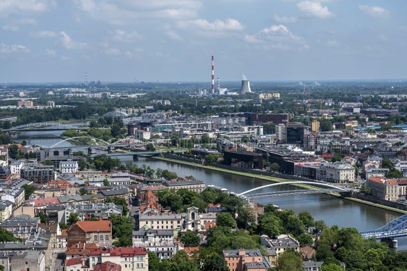Aerial view of Krakow stock image