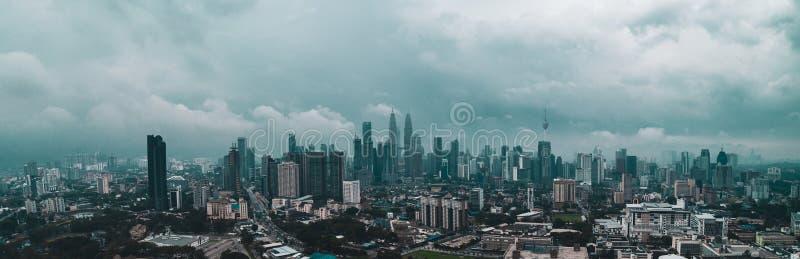 Aerial view of Kuala Lumpur during haze royalty free stock photos