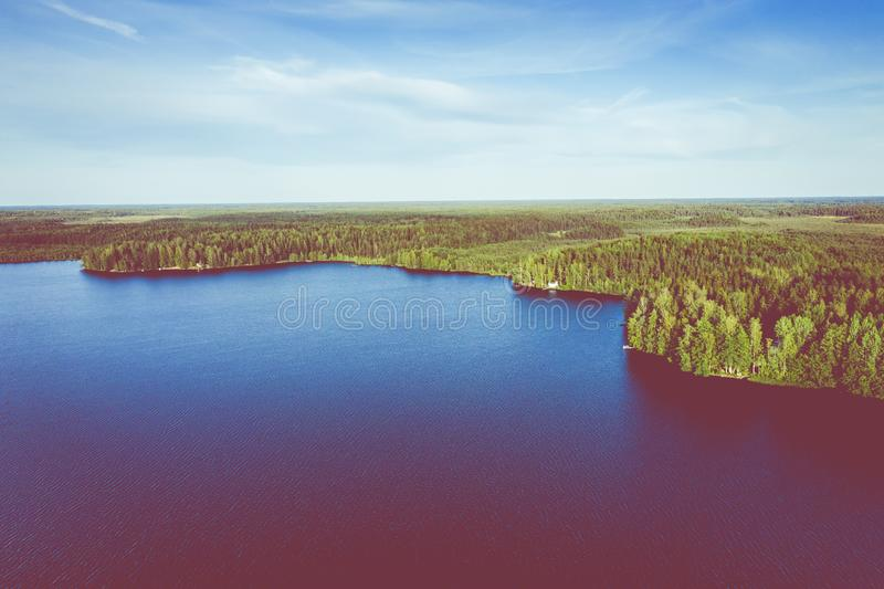 Aerial view of Kurjenrahka National Park. Turku. Finland. Nordic natural landscape. Scandinavian national park. Photo made by. Drone from above stock photo