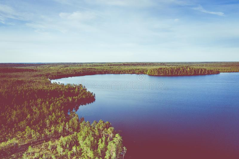 Aerial view of Kurjenrahka National Park. Turku. Finland. Nordic natural landscape. Scandinavian national park. Photo made by. Drone from above stock images