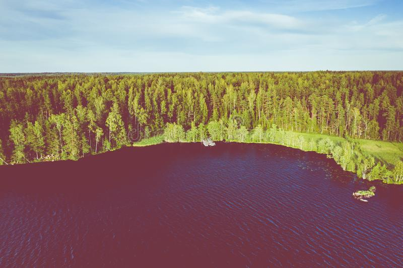Aerial view of Kurjenrahka National Park. Turku. Finland. Nordic natural landscape. Scandinavian national park. Photo made by. Drone from above stock image