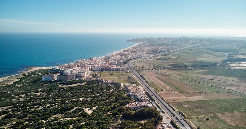 Aerial view La Mata coastline. Spain stock images
