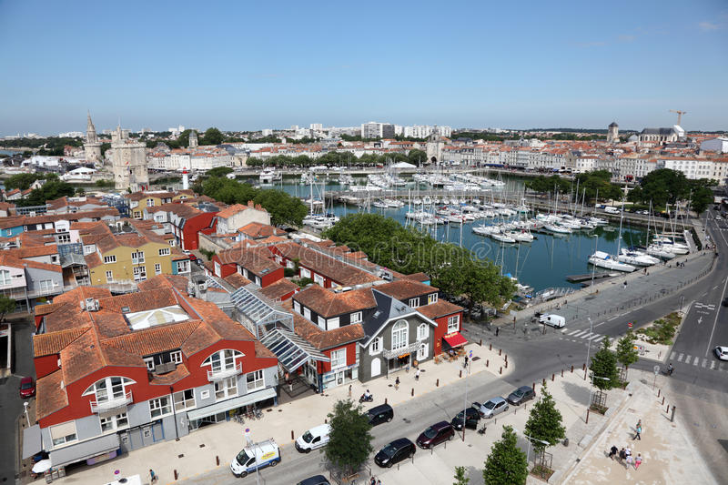 Aerial view of La Rochelle, France royalty free stock photo