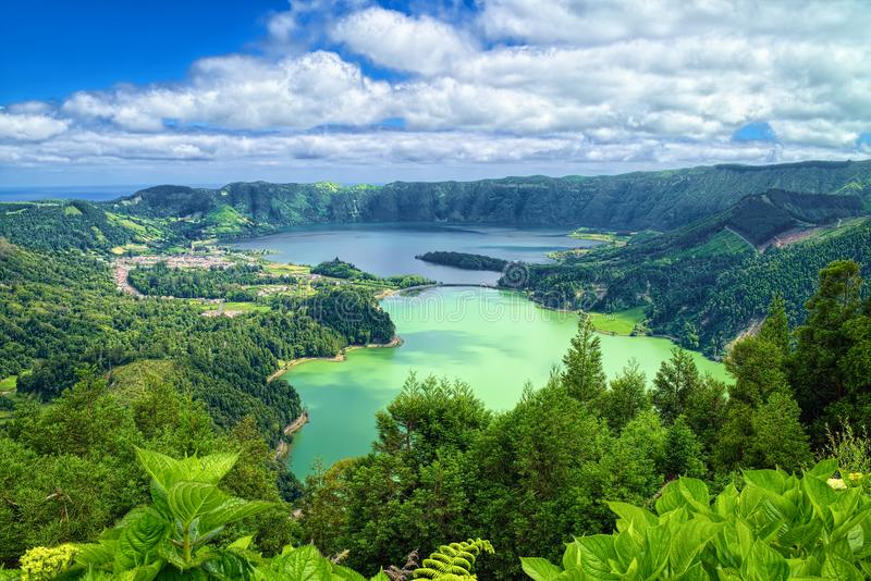 Lagoon of the Seven Cities, Sao Miguel island, Azores stock photography