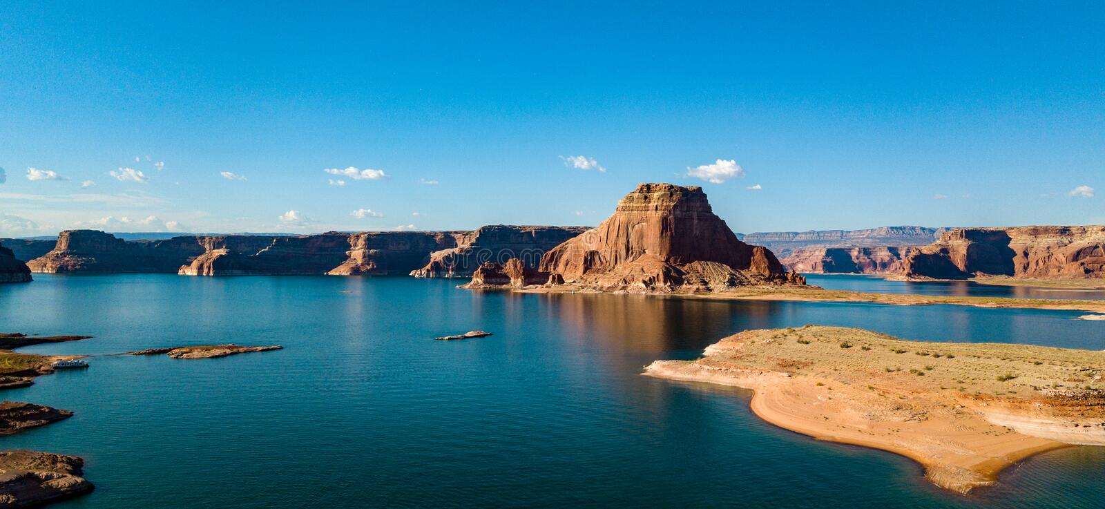 Aerial View Of Lake Powell Near The San Juan River stock photo