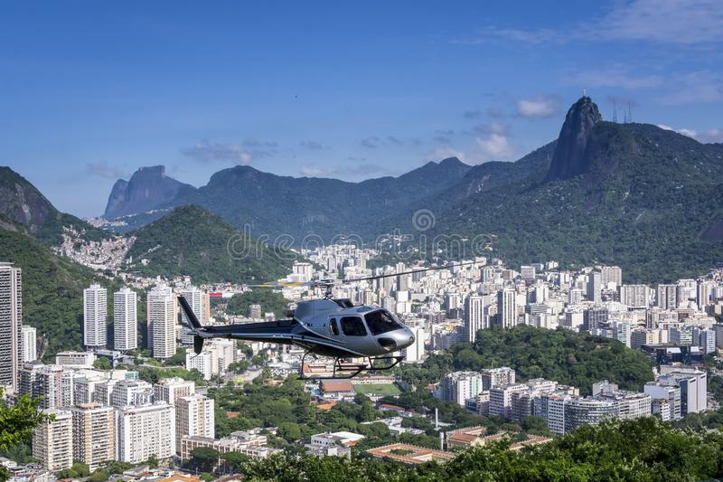 Aerial view landscape for Helicopter tours over Rio de Janeiro, Brasil Brazil from above aerial tour royalty free stock photography