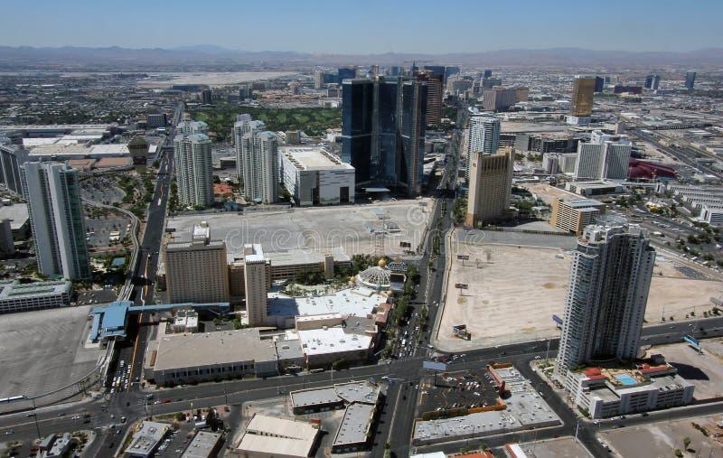 Aerial View of Las Vegas Blvd & Paradise Rd royalty free stock image
