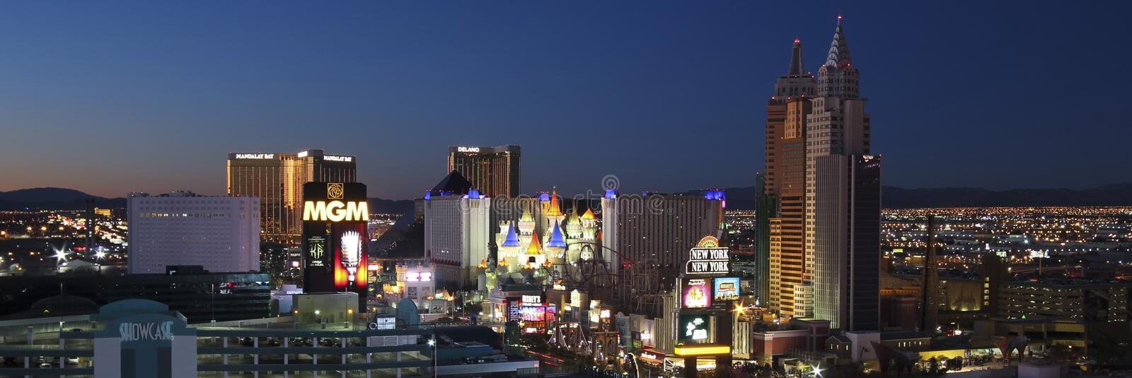 An Aerial View of the Las Vegas Strip Looking South stock image