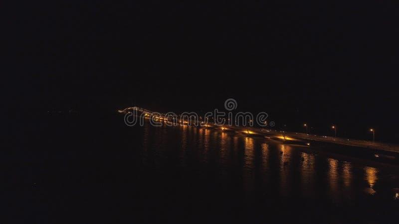 Suspension cable bridge in surabaya royalty free stock photo