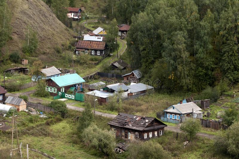 Aerial view of local homes from kremlin royalty free stock image