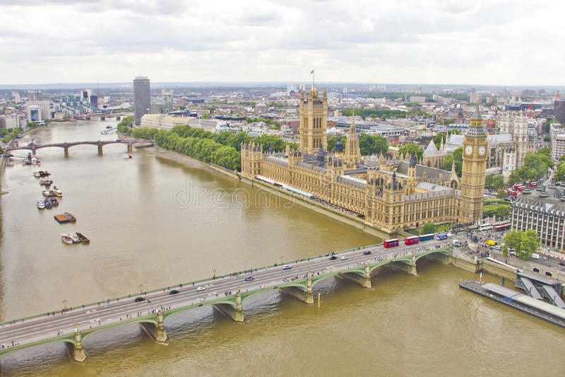 Download Aerial view of London stock image. Image of parliament - 24743151