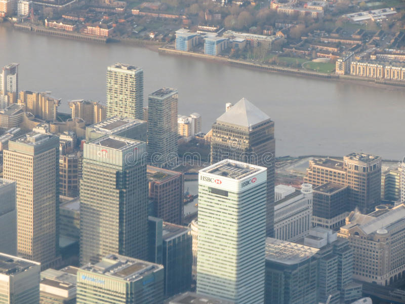 Aerial view of London city centre stock photo