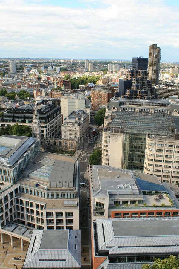 Aerial view of London from St. Paul's Cathedral royalty free stock photography