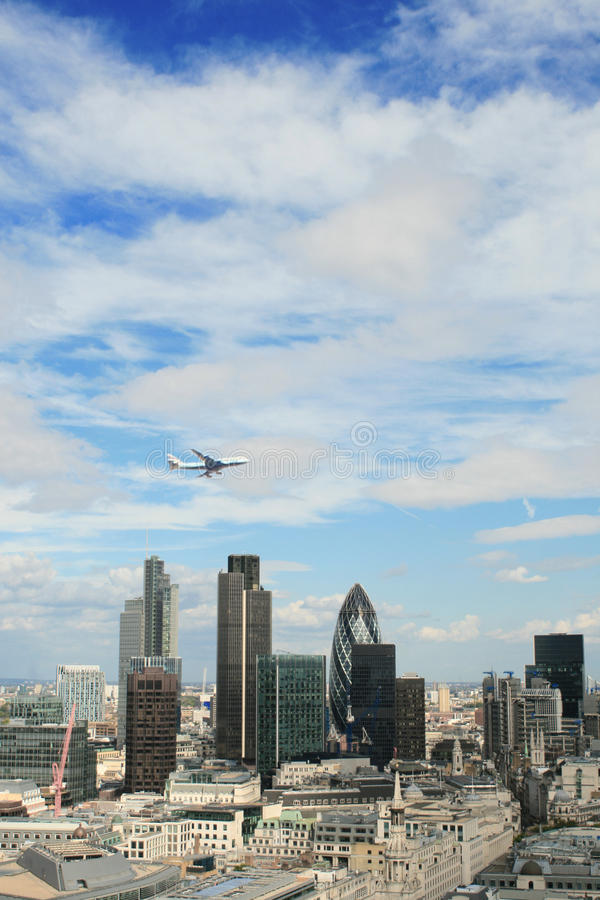 Aerial view of London from St. Paul's Cathedral royalty free stock photo