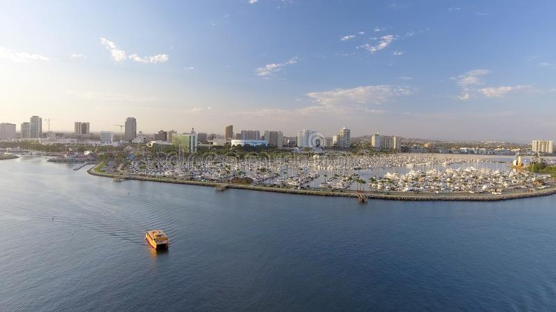 Aerial view of Long Beach, CA stock photography