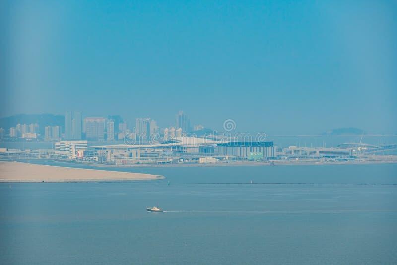 Aerial view of the Macau Boundary Crossing Facilities stock image