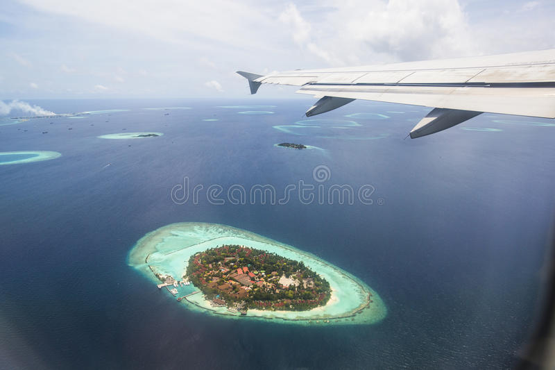 Download Aerial View Of The Maldives Stock Image - Image of island, turquoise: 75986247