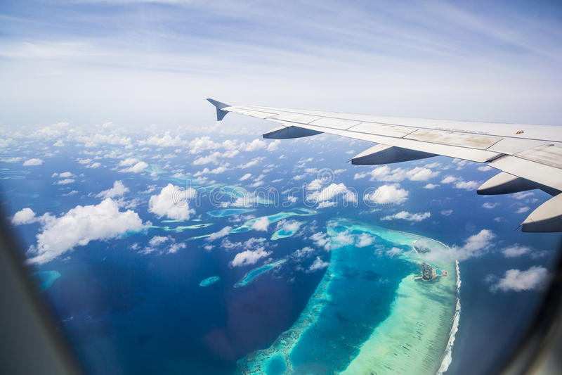 Download Aerial View Of The Maldives Stock Image - Image of aerial, villa: 75986321
