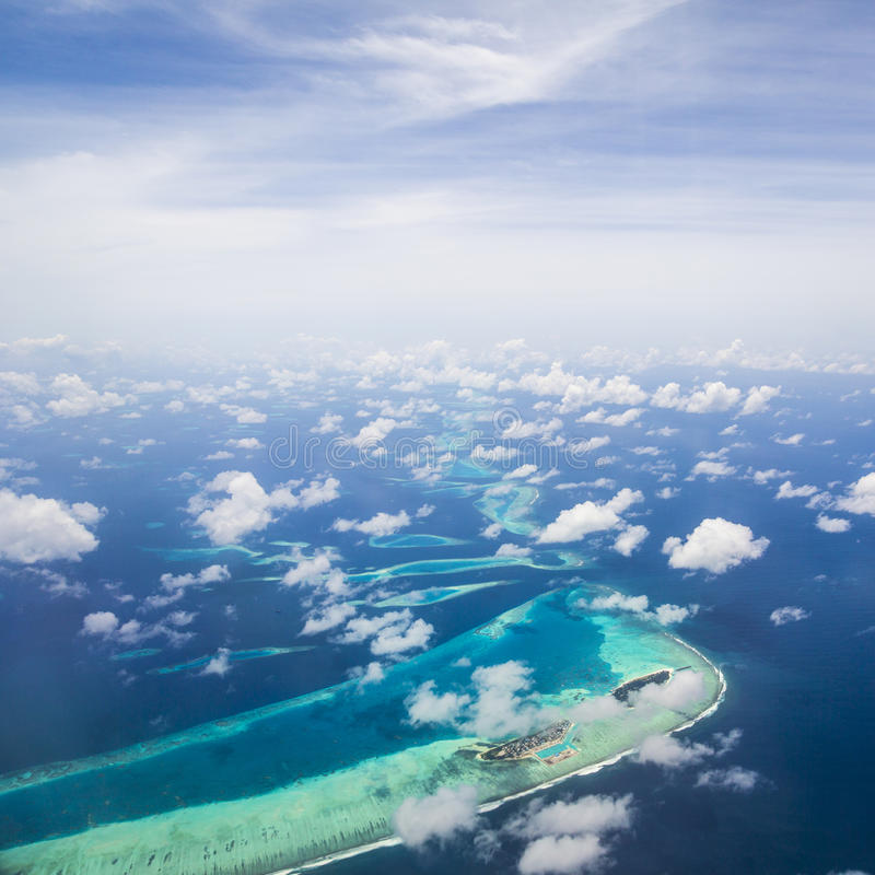 Download Aerial View Of The Maldives Stock Image - Image of ocean, islands: 75986347