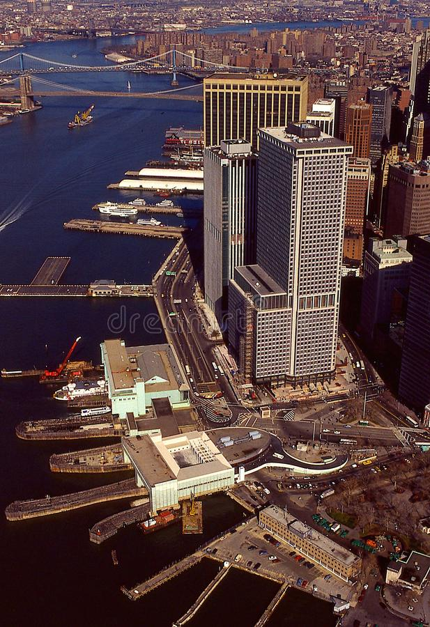 Aerial view of Manhattan royalty free stock photo