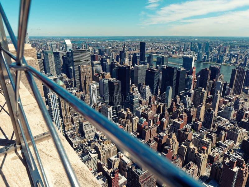 Aerial view Manhattan Midtown USA New York City. Aerial view of Manhattan Midtown USA New York City royalty free stock photography
