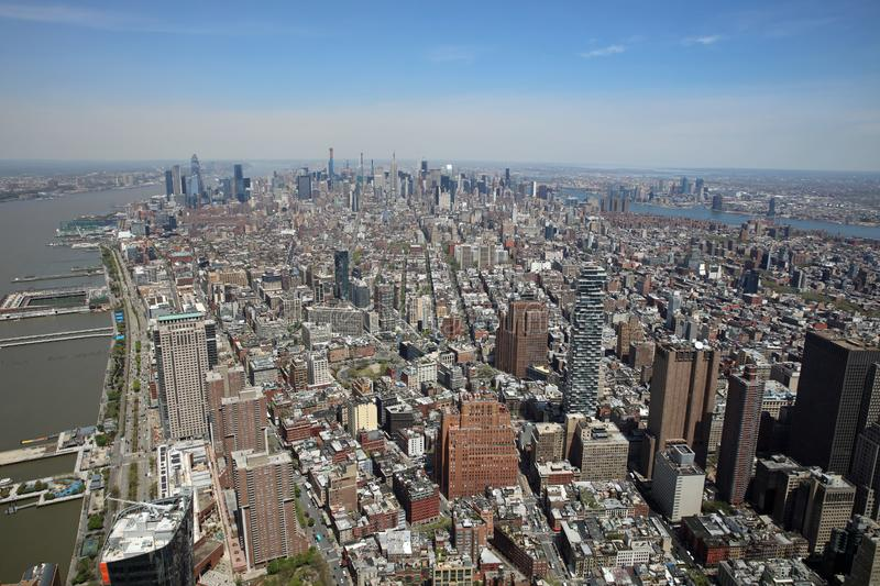 Aerial View of Manhattan. New York City royalty free stock image