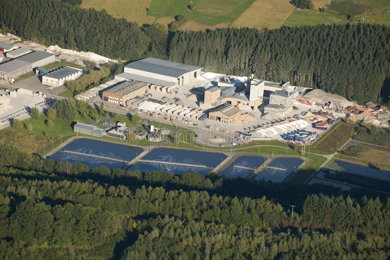 Download Aerial View : Marble Industry And Water Treatment Stock Photo - Image: 11148634