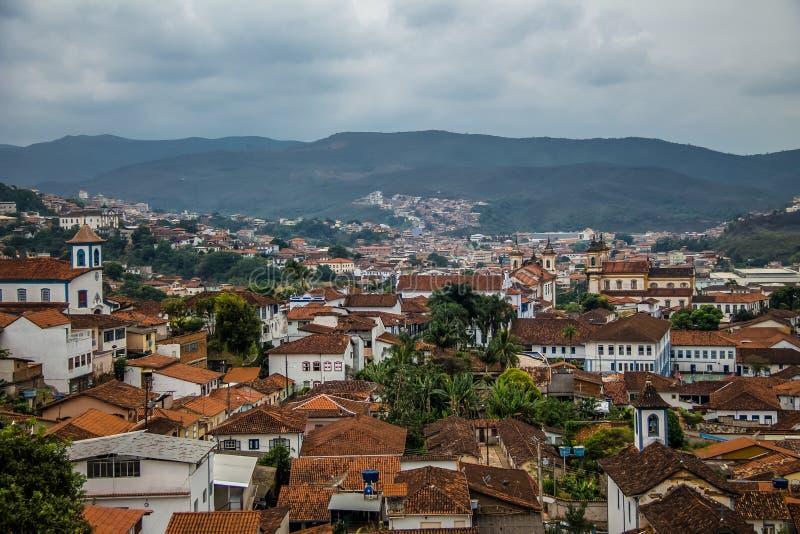 Aerial view of Mariana City - Minas Gerais, Brazil. Aerial view of Mariana City in Minas Gerais, Brazil stock images