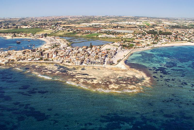 Aerial view of Marzamemi, Sicily royalty free stock photography