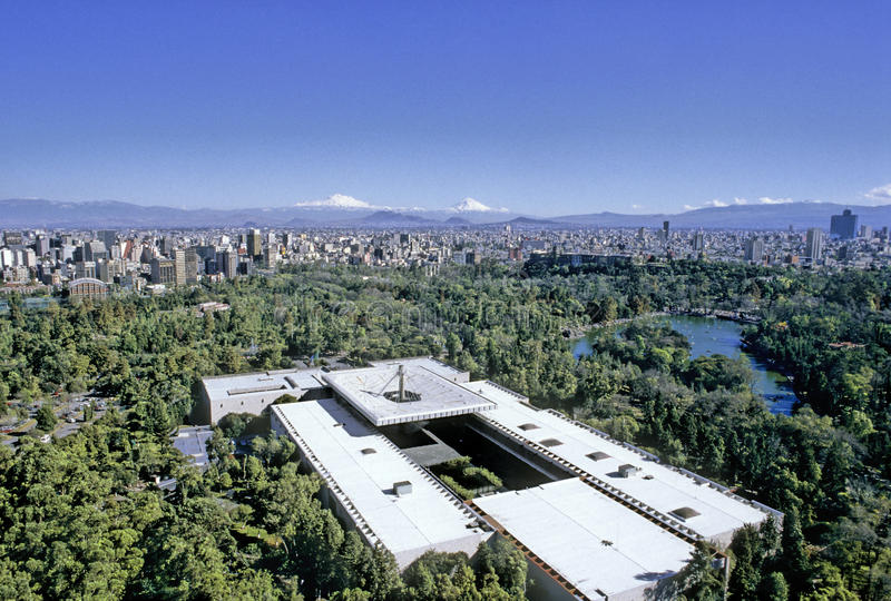 Aerial view of Mexico City royalty free stock images